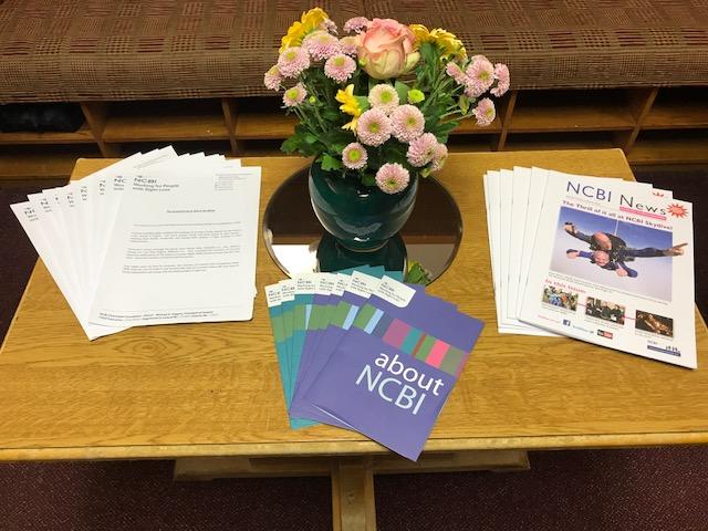 NCBI information in locker room