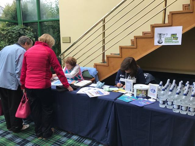 Ladies registering at the registration desk